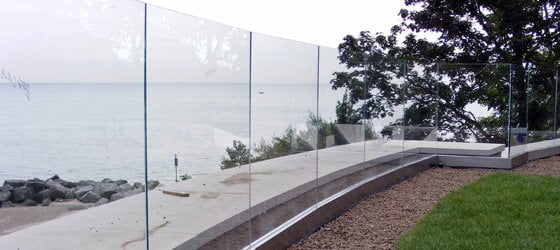 Deerfield Glass Deck Railings