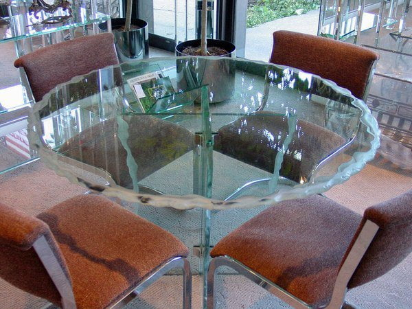 Skokie Custom Glass Table